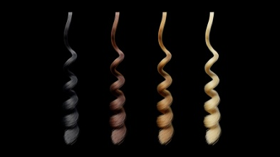 Curls of hair with different parameters